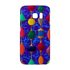 Colorful Background Stones Jewels Samsung Galaxy S6 Edge Hardshell Case