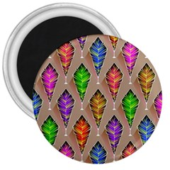 Abstract Background Colorful Leaves 3  Magnets by Wegoenart