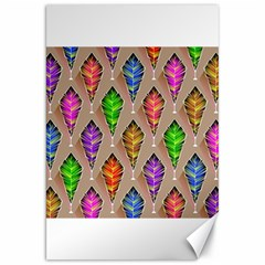 Abstract Background Colorful Leaves Canvas 20  X 30