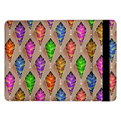 Abstract Background Colorful Leaves Samsung Galaxy Tab Pro 12 2  Flip Case by Wegoenart