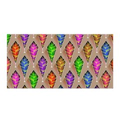 Abstract Background Colorful Leaves Satin Wrap