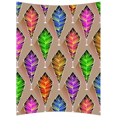 Abstract Background Colorful Leaves Back Support Cushion