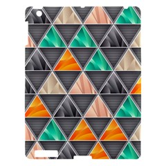 Abstract Geometric Triangle Shape Apple Ipad 3/4 Hardshell Case