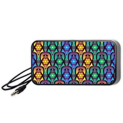 Pattern Background Bright Blue Portable Speaker