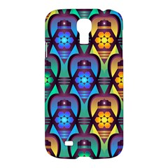 Pattern Background Bright Blue Samsung Galaxy S4 I9500/i9505 Hardshell Case