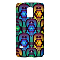 Pattern Background Bright Blue Samsung Galaxy S5 Mini Hardshell Case