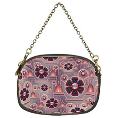 Background Floral Flower Stylised Chain Purse (two Sides) by Wegoenart