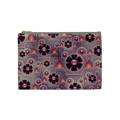 Background Floral Flower Stylised Cosmetic Bag (medium)