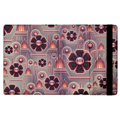 Background Floral Flower Stylised Apple Ipad 2 Flip Case