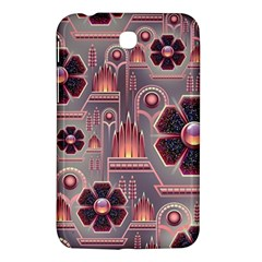Background Floral Flower Stylised Samsung Galaxy Tab 3 (7 ) P3200 Hardshell Case