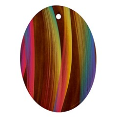 Abstract Background Colorful Ornament (oval) by Wegoenart