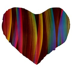 Abstract Background Colorful Large 19  Premium Heart Shape Cushions by Wegoenart