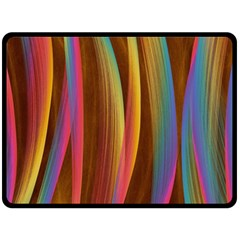 Abstract Background Colorful Double Sided Fleece Blanket (large)