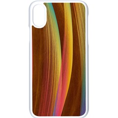 Abstract Background Colorful Apple Iphone Xs Seamless Case (white)