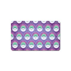 Background Floral Pattern Purple Magnet (name Card)