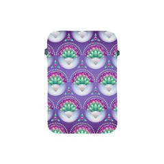 Background Floral Pattern Purple Apple Ipad Mini Protective Soft Cases