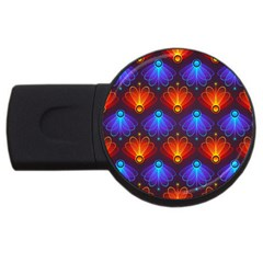 Light Background Colorful Abstract Usb Flash Drive Round (2 Gb)