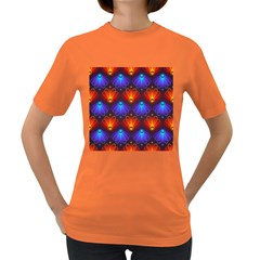 Light Background Colorful Abstract Women s Dark T Shirt
