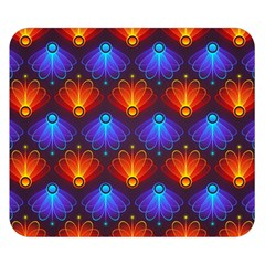 Light Background Colorful Abstract Double Sided Flano Blanket (small)