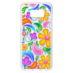 Floral Paisley Background Flower Samsung Galaxy S8 Plus White Seamless Case