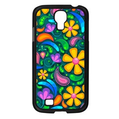 Floral Paisley Background Flowers Samsung Galaxy S4 I9500/ I9505 Case (black) by Wegoenart