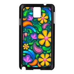 Floral Paisley Background Flowers Samsung Galaxy Note 3 N9005 Case (black)