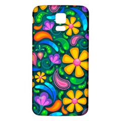 Floral Paisley Background Flowers Samsung Galaxy S5 Back Case (white)
