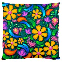 Floral Paisley Background Flowers Standard Flano Cushion Case (one Side)