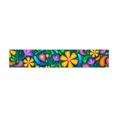 Floral Paisley Background Flowers Flano Scarf (mini)