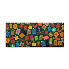 Presents Gifts Background Colorful Hand Towel by Wegoenart