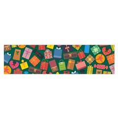 Presents Gifts Background Colorful Satin Scarf (oblong)