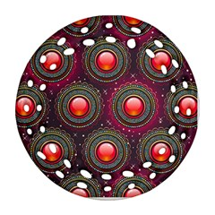 Abstract Circle Gem Pattern Ornament (round Filigree)