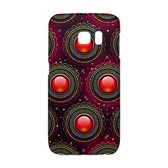 Abstract Circle Gem Pattern Samsung Galaxy S6 Edge Hardshell Case