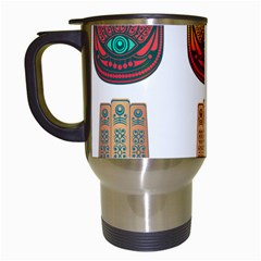 Evil Eye Protection Charm Colorful Travel Mugs (white) by Wegoenart