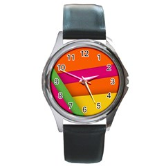 Background Abstract Round Metal Watch