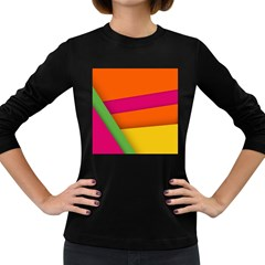 Background Abstract Women s Long Sleeve Dark T Shirt