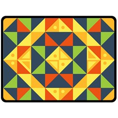 Background Geometric Color Double Sided Fleece Blanket (large)