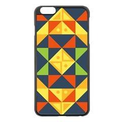 Background Geometric Color Apple Iphone 6 Plus/6s Plus Black Enamel Case