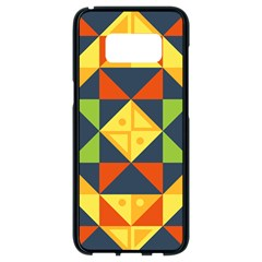 Background Geometric Color Samsung Galaxy S8 Black Seamless Case by Wegoenart
