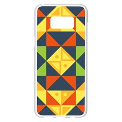 Background Geometric Color Samsung Galaxy S8 Plus White Seamless Case