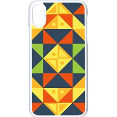 Background Geometric Color Apple Iphone X Seamless Case (white)