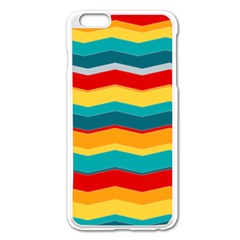 Retro Colors 60 Background Apple Iphone 6 Plus/6s Plus Enamel White Case