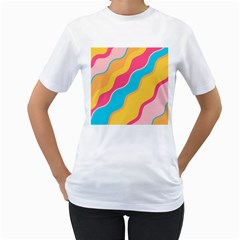 Cake Color Palette Painting Women s T Shirt (white)