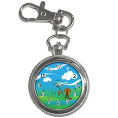 Landscape Nature Mountain Field Key Chain Watches