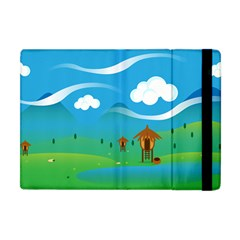 Landscape Nature Mountain Field Apple Ipad Mini Flip Case