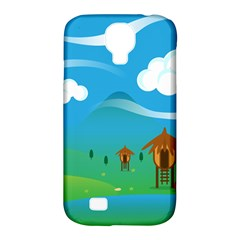 Landscape Nature Mountain Field Samsung Galaxy S4 Classic Hardshell Case (pc+silicone)