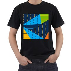 Background Wallpaper Colors Color Men s T Shirt (black) (two Sided)