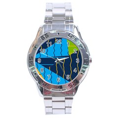 Background Wallpaper Colors Color Stainless Steel Analogue Watch