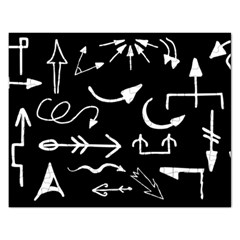 Arrows Vector Lines Strokes White Rectangular Jigsaw Puzzl by Wegoenart