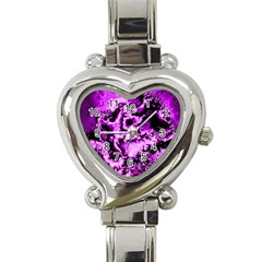 Winter Fractal 1 Heart Italian Charm Watch